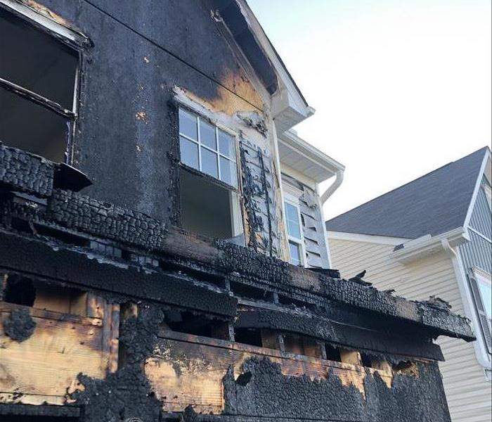 Home in Durham, NC suffered from a fire loss.